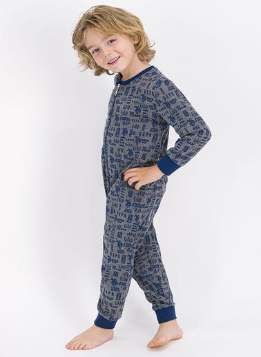 U.S. Polo Assn. Lisanslı Mavi Erkek Çocuk Tulum Gri